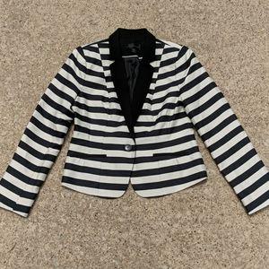 Worthington Bold Stripe Black White Blazer Jacket